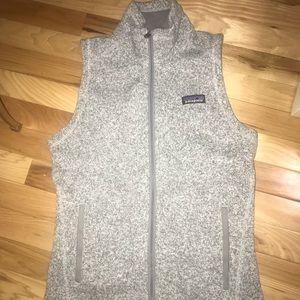 Gray Patagonia zip up vest